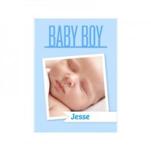 geboortekaart met naam als geboorte kadotip