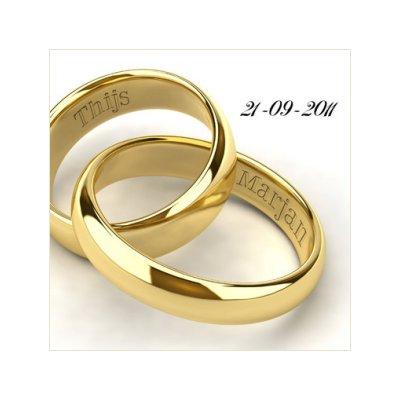 huwelijkskaart met naam als huwelijk cadeautip