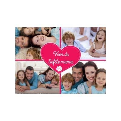 moederdag kaart met foto als moederdag kadotip